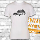 GHOSTBUSTERS CAR T-SHIRT - RETRO DESIGN - WHITE GILDAN SOFTSTYLE - GREAT GIFT