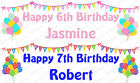 PERSONALISED BALLOONS AND BUNTING CHILDRENS BIRTHDAY LARGE PAPER BANNER L@@K