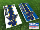 Premium Vinyl Decal Wraps (2) for Cornhole Bags Game- Home & Away STL Blues
