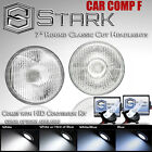 "H6024 Head Light Glass Housing Lamp Classic Conversion Chrome 7"" Round HID (F) $ USD"