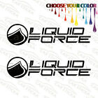 "2 of 8"" Liquid Force /C wakeboard car truck window bumper stickers decals"