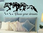 Chase Your Dreams w Horses and Stars Wall Vinyl Decal Sticker Nursery Motivation