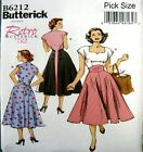Butterick Sewing Pattern 6212 Retro Ladies 50s Back Wrap Dress Choose Size