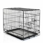 Folding Dog Cat Puppy Pet Metal Wire 2 Door Cage Crate Carrier Playpen 5 Sizes
