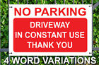 NO PARKING SIGN 3mm DIBOND SIGN Road Sign Material A4 A3 A2 4mm Weatherproof