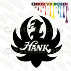 """1 of 5"""" to 20"""" Hank Williams Jr Bocephus /A artist car wall stickers decals"""