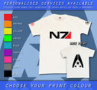 Mass Effect N7 Alliance Tribute Custom Personalised Gamer Gift White T-shirt