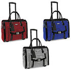 Cabrelli Victoria Houndstooth Womens Rolling Laptop Bag Wheeled Case Briefcase