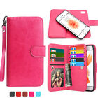 New PU Folio Detachable Wallet Case Cover Card Slot Holder For iPhone 6 6S Plus
