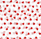 Red Hearts on White Tissue Paper #457 ~ 10 Large Sheets