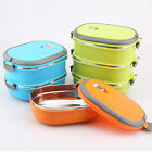 Hot 1/2/3 Layer Stainless Steel Thermal Insulated Bento Food Container Lunch Box