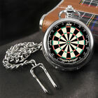 Darts Dartboard Watch Pocket Watch