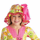 Mud Pie Tutti Frutti Yellow Citrus Reversible Sun Hat 6M-4T #1502110 NWT