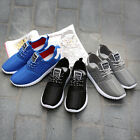 New Fashion Mens Sneakers Lace Up Breathable Casual Athletics Sport Mesh Shoes