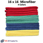 Microfiber Cleaning Cloth Set of 12 Towel Rag Car Polishing Detailing No-Scratch