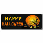 Happy Halloween Pumpkins Scary 13 Oz Vinyl Banner Sign w/ Grommets $224.99 USD on eBay