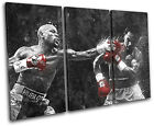 Mayweather Pacquiao Boxing Sports TREBLE CANVAS WALL ART Picture Print