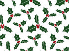 Christmas Holly Berry on White Tissue Paper #791 ~ 10 Large Sheets