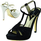 Open Toe Sandal Ankle Strap Platform Bridal Dress Women High Heel Clubwear Shoes