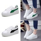 New Women's Fashion Cozy Casual Leather Lace Up Athletic Loafer Sport Shoes