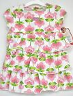 Carters Outfit Pink Floral Dress  2 PC Diaper Cover White Green Just one you New