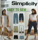 Simplicity Sewing Pattern 9198 Ladies High Waist Shorts Pants 6-12