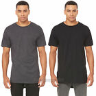 Bella + Canvas Mens Crewneck Long Body T Shirt Drop Tail Tee S M L XL 2XL 3006