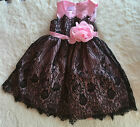 New Baby Toddler Children Kid Girl Lace Party Pageant Wedding Dress Clothing