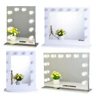 Hollywood Lighted Makeup Vanity Mirror Aluminum Dimmer Beauty Theatre Mirror