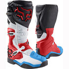 NEW FOX RACING MENS ADULT 2017 RED / WHITE COMP 8 MOTOCROSS MX ATV BOOTS RIDING