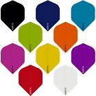 POLY PLAIN DART FLIGHTS STANDARD SHAPE - RAW75 - 10 COLOURS - GREAT VALUE