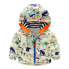 Autumn Thin Windproof Baby Boys Cartoon Print Hooded Jacket Kids Boy Zipper Coat