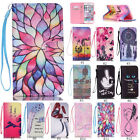 For iPhone  Samsung Flip Stand PU Leather Wallet Phone TPU Case Cover Patterned
