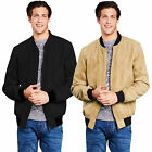 Brave Soul Mens Turkey Designer Faux Suede Lightweight Harrington Bomber Jacket