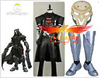 Overwatch Reaper Black Uniform Cosplay Costume Boots Shoes Custom PVC Mask Full