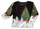 Christmas tree Snowman Holiday Top Lg, XLg