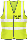 PERSONALISED PRINTED HI VIZ SAFETY VESTS WITH TEXT ONLY