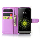 Luxury Leather Flip Magnetic Stand Card Pouch Hard Back Case Cover For LG Phone
