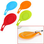 Silicone Heat Resistant Spoon Fork Mat Rests Utensil Spatula Holder Decent Tool