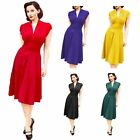 Flared Pleated Elegant Women Swing Dress Formal Evening Party Cocktail Dress