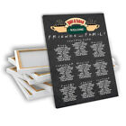 TV Friends Central Perk Chalkboard Wedding Table Seating Plan Chart Canvas Print