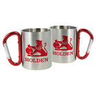 123126 HOLDEN STAINLESS STEEL HERITAGE 300ML MUG WITH CARABINER CLIP HANDLE