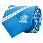 52145 NORTH MELBOURNE KANGAROOS AFL TEAM COLOURS STRIPED MENS DRESS NECK TIE