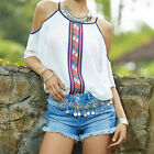 New Fashion Womens Chiffon Tops Tank Short Sleeve T-Shirt Casual Blouse Vest LL