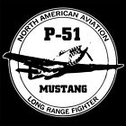 NORTH AMERICAN P-51 MUSTANG (veteran us pilot poster P 51 ww2 model) T-SHIRT