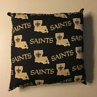 INCREDIBLE 15 x 15 NFL FOOTBALL NEW ORLEANS SAINTS COMPLETE PILLOWS - 2 STYLES