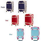 20inch 24inch Expandable ABS Carry On Luggage Travel Bag Trolley Suitcase Blue