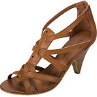 Women's Casual Faux Leather Strappy Zip Up Ankle Bootie high Heel Shoe