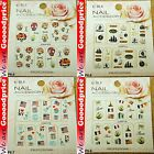 Color Printing Water Tranfer Nail Art Sticker Halloween France USA Style 6-0508