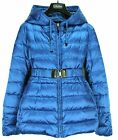 S Max Mara NOVEAA Reversible Blue Goose Down Packable Cube Jacket Msrp $1250.00